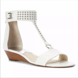 Michael Michael Kors White Celena Studded Sandals